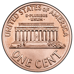 Lincoln Memorial Cent (1959 - 2008)