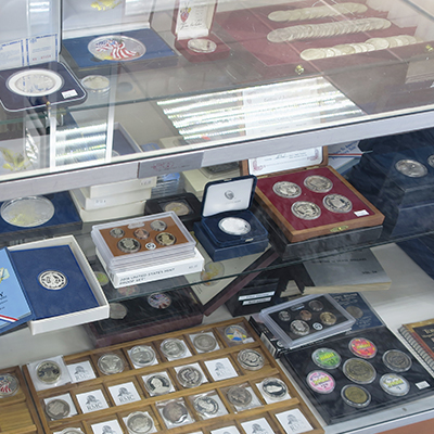 We have casino gaming tokens and a variety of miscellaneous coins and bullion rounds and bars.