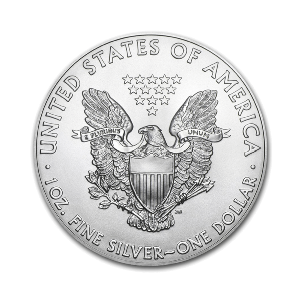 Reverse side of a 2017 American Silver Eagle