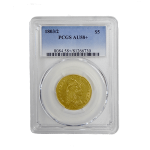 1803/2 PCGS AU58 $5 Half Gold Eagle Obverse