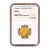 Sweden Gold Ducat 1818-OL NGC MS63