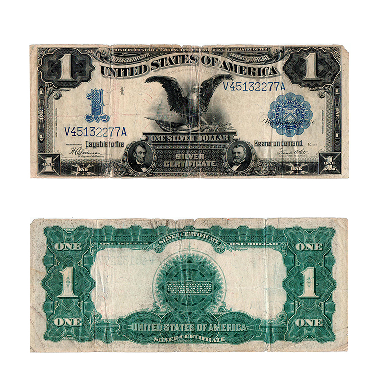 1899 1 Large Size Blue Seal Silver Certificate Rocky Mountain