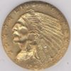 1909 $2.50 Gold Indian Head NGC MS61