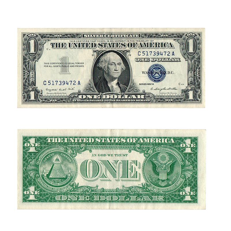 1957 1 Silver Certificate Blue Seal Rocky Mountain Coin Rocky