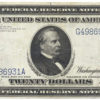 1914 $20 Federal Reserve Note Blue Seal Serial #G4986931A
