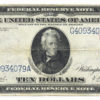 1914 $10 Federal Reserve Note Blue Seal Large Size