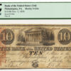 1838 $10 Bank of the United States Philadelphia, PA Haxby 3-G4a