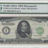 1934 A $1000 Federal Reserve Note FRN Minneapolis PMG AU 58.