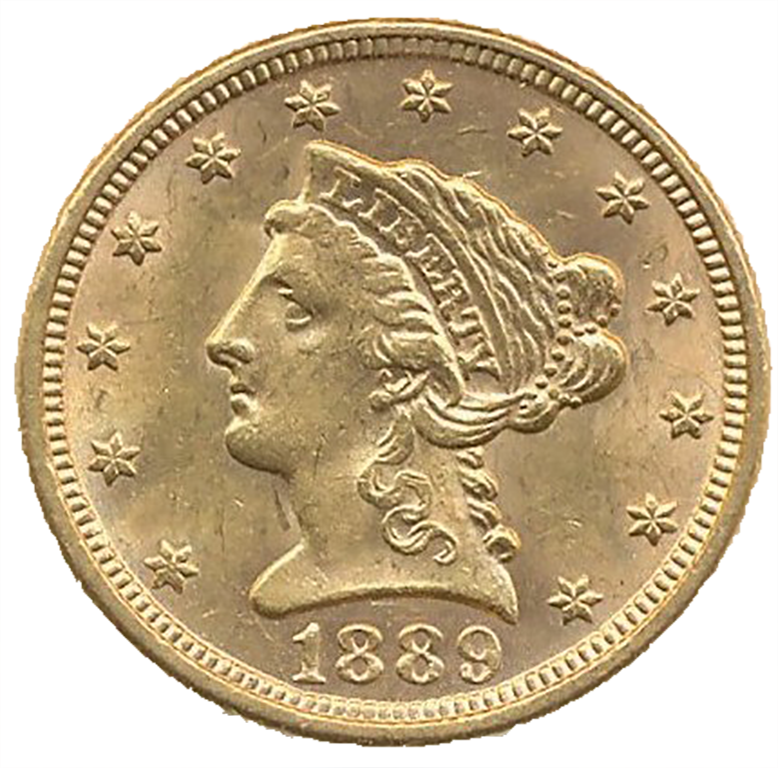 $2.50 Gold Quarter Eagle (1796 - 1929)