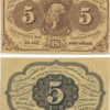 1862 5 Cents Fractional First Issue Postage Currency