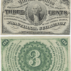 1863 3 Cent Fractional Currency Light Background