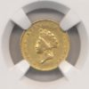 1855 $1 Gold Indian Princess Head Type 2 NGC AU58