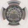 1872 Shield 5C NGC PF 65 Cameo