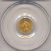 1855 $1 Gold Indian Princess Head Type 2 PCGS MS62