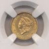 1853 $1 Gold Liberty NGC MS61