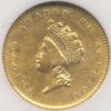 1854 $1 Gold Indian Princess Type 2 NGC AU53