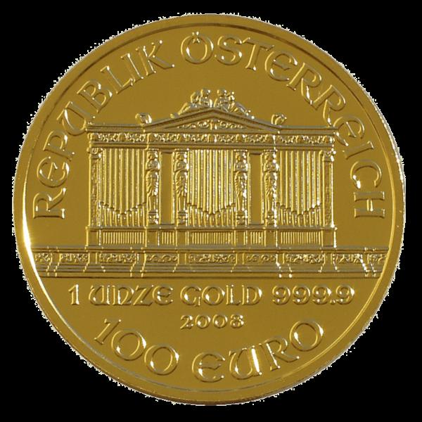 Austrian Gold Philharmonic Obverse