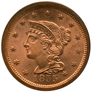 Braided Hair Cent (1839 - 1857)