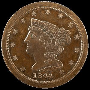 Braided Hair Half Cent (1840 - 1857)