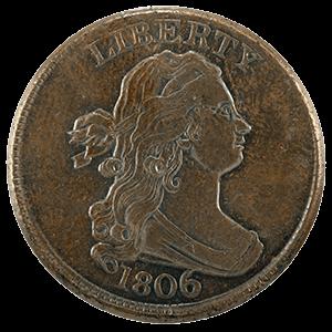 Draped Bust Half Cent (1800 -1808)