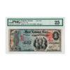 1875 $1 Emporia Kansas First National Bank PMG 25VF