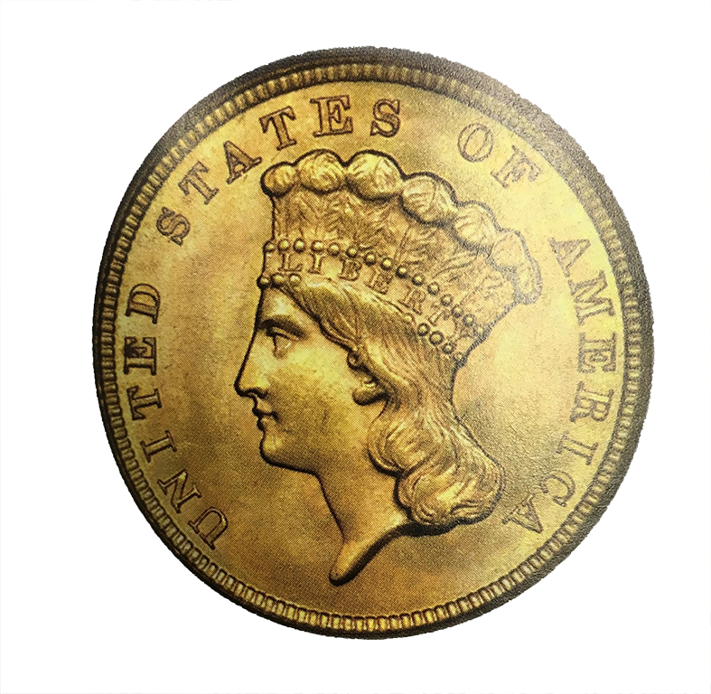 $3 Gold Piece (1854 - 1889)