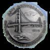 Golden Gate Bridge 25th Anniversary Silver Medal