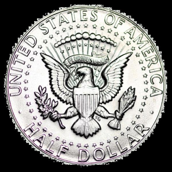 Kennedy 40% Silver Half Dollar Reverse