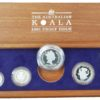 Australian 1991 Koala Platinum Proof Set. Mintage 1000 Scarce!