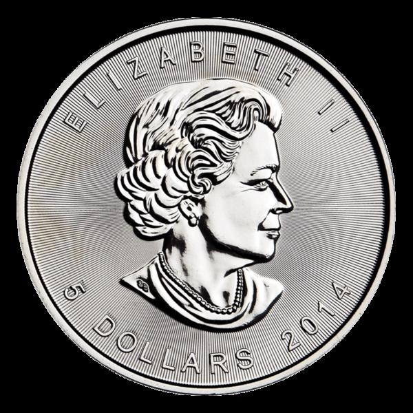 Canadian Platinum Maple Leaf Obverse