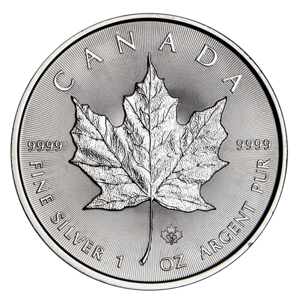 Canadian Platinum Maple Leaf Reverse