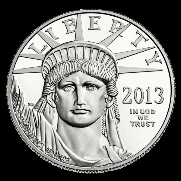 U.S. Platinum Eagle Obverse