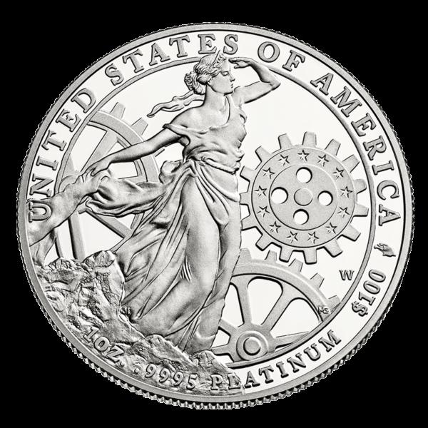 U.S. Platinum Eagle Reverse