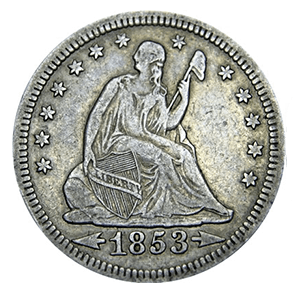 Seated Liberty Quarter (1838 - 1891)