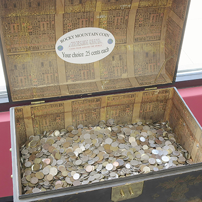 Look through our treasure chest of foreign coins and you just might find some real buried treasure!